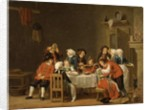Convivial Scene in a Peasant's Cottage by Pehr Hillestrom