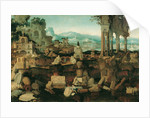 Landscape with Roman Ruins by Herman Posthumus