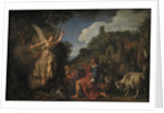 The Angel Raphael Takes Leave of Old Tobit and his Son Tobias by Pieter Lastman