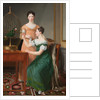 Bella and Hanna. The Eldest Daughters of M.L. Nathanson by Christoffer-Wilhelm Eckersberg