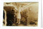 Elsie and Sadie working at Yazoo City Yarn Mills, Mississippi said they were 13 years old by Lewis Wickes Hine