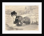 Woman Lying on the Beach. Annabel Lee by Edouard Manet