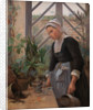 Breton Girl Looking after Plants in Hothouse by Anna Petersen