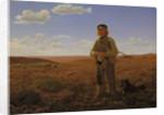 A Jutland Shepherd on the Moors by Frederik Vermehren