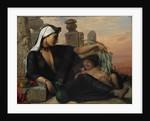 An Egyptian Fellah Woman with her Baby, 1872. by Elisabeth Maria Anna Jerichau- Baumann