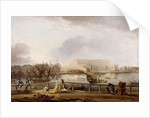 View of Stockholm Palace from Blasieholmen by Elias Martin