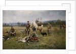 Lapps Collecting Shot Reindeer, 1892 by Johan Tiren