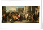 Theseus Taming the Bull of Marathon by Carle van Loo
