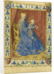 The Virgin and Child Enthroned from the Hours of Simon de Varie by Jean Fouquet