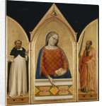 The Virgin Mary with Saints Thomas Aquinas and Paul by Bernardo Daddi