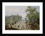 A Jeu de Paume Before a Country Palace by Adriaen Pietersz. van de Venne