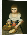 Boy with a Basket of Fruit by American School