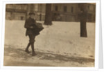 Louis A. Caulfield, aged 16, on Boston Common delivering a heavy type-writer about 1/2 mile for Model Typewriter Inspection Co. earning $6 a week by Lewis Wickes Hine