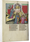 Moses and the Ark of the Covenant from Weltchronik by German School