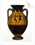 Athenian Attic black-figure amphora with dancers by Greek
