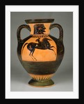 Athenian Attic black-figure amphora with naked rider by Greek