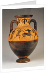 Attic black-figure neck amphora with Heracles pursuing a centaur by Greek