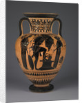 Athenian Attic black-figure amphora with Heracles carrying the Erymanthean boar by Greek