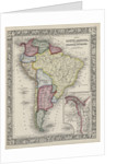 Map of South America showing its political divisions from Mitchell's new general atlas by Samuel Augustus Mitchell