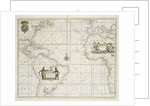 Chart of the Western (now Atlantic) Ocean with rhumb lines by Jeremiah Seller by English School