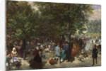 Afternoon in the Tuileries Gardens by Adolph Friedrich Erdmann von Menzel