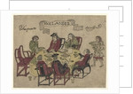 Dutch VOC employees being served a meal by Javanese servants at Deshima by Japanese School