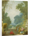 A Game of Hot Cockles by Jean-Honore Fragonard
