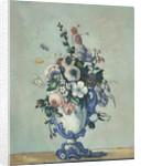 Flowers in a Rococo Vase by Paul Cezanne