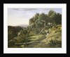 A View near Volterra by Jean Baptiste Camille Corot