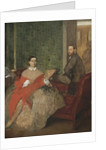 Edmondo and Thérèse Morbilli by Edgar Degas