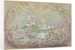 Lake Scene with Fairies and Swans by Robert Caney