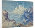 Fantastic Mountainous Landscape with a Starry Sky by Robert Caney