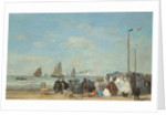 Beach Scene at Trouville by Eugene Louis Boudin