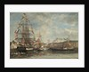 Festival in the Harbour of Honfleur by Eugene Louis Boudin