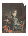 A Woman Playing the Guitar by Niclas II Lafrensen