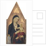 Madonna and Child with Donor by Lippo Memmi