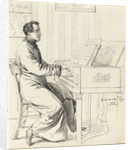 Grimm, Ludwig Emil German, The Artist's Brother-in-Law, Ludwig Hassenpflug, Preparing to Play the Piano by Ludwig Emil Grimm