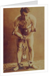 Harry Houdini in chains by American Photographer