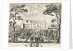 Arrival of William III at the hunting lodge, Hof te Dieren by Pieter Schenk