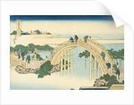 Drum Bridge of Kameido Tenjin Shrine from the Series Wondrous Views of Famous Bridges in All the Province by Katsushika Hokusai