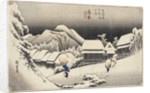Evening Snow at Kanbara by Ando or Utagawa Hiroshige