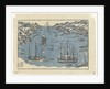Bunkindo print of foreign ships in the port of Nagasaki by Japanese School