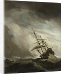 A Ship on the High Seas caught by a Squall, known as the 'Gust' by Willem van de