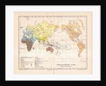 Ethnographic map of the world by German School
