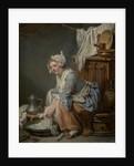 The Laundress by Jean Baptiste Greuze