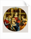 Madonna and Child with a Male Saint, Catherine of Alexandria and a Donor by Michelangelo di Pietro Membrini