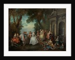 Dance before a Fountain by Nicolas Lancret