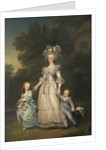 Queen Marie Antoinette with her Children in the Park of Trianon by Adolf Ulrich Wertmuller