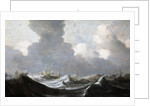 Four Vessels Running Before a Gale by Pieter the Elder Mulier