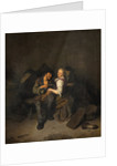 Young Couple in a Tavern by Cornelis Bega